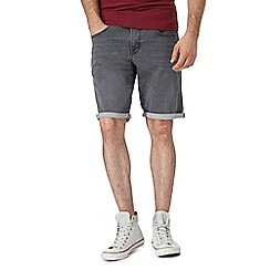 Red Herring - Big and tall grey denim shorts