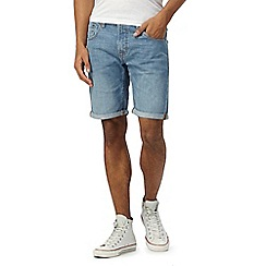 Red Herring - Big and tall light blue wash denim shorts