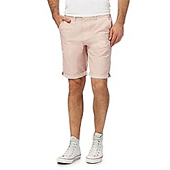Red Herring - Light orange chambray trim shorts