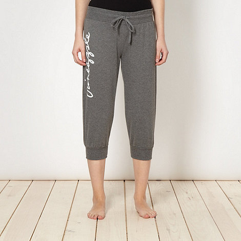 Pineapple - Pineapple dark grey logo cuffed jogging bottoms