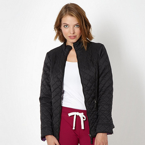 Pineapple - Black quilted jacket