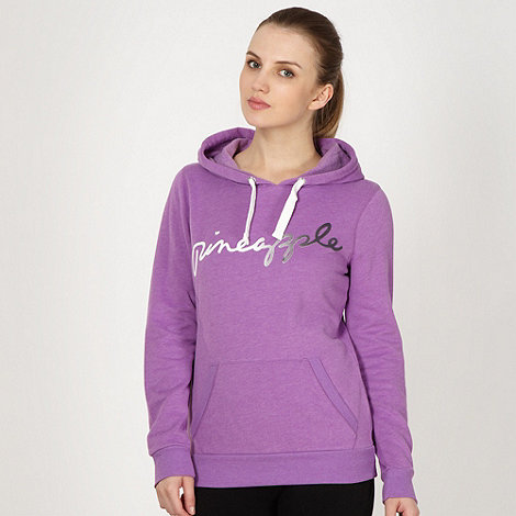 Pineapple - Pineapple lilac flocked logo hoodie