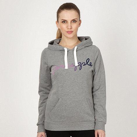 Pineapple - Pineapple grey flocked logo hoodie