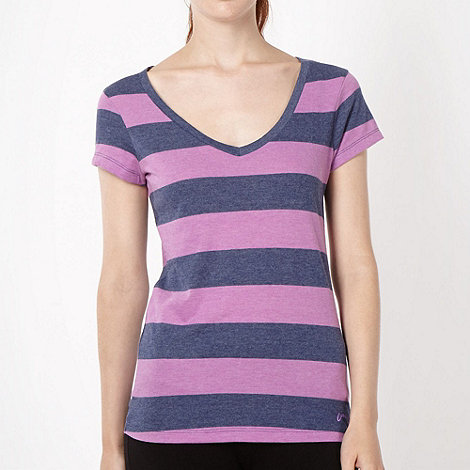 Pineapple - Pineapple light purple striped V neck t-shirt