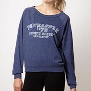 Pineapple dark blue heritage logo oversized top