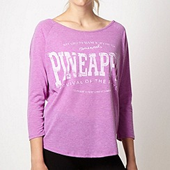 Pineapple - Pineapple lilac soft logo jersey top