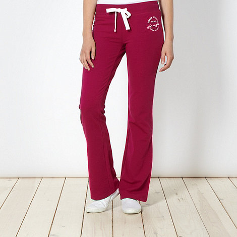 Pineapple - Pineapple dark pink bootcut jogging bottoms