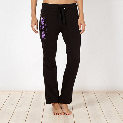Pineapple - Pineapple black cuffed jogging bottoms
