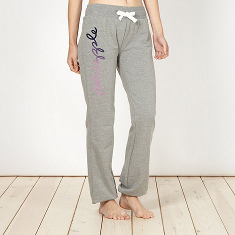 Pineapple - Pineapple grey cuffed logo jogging bottoms