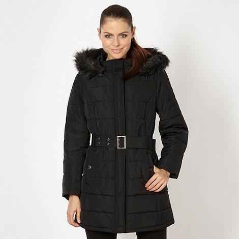 Pineapple - Black long padded coat