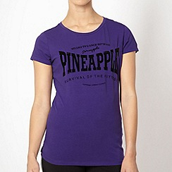 Pineapple - Pineapple purple 'Survival' t-shirt