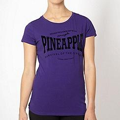 Pineapple - Pineapple purple 'Survival' t-shirt