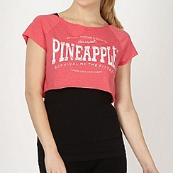 Pineapple - Pineapple black and coral 2-in-1 top