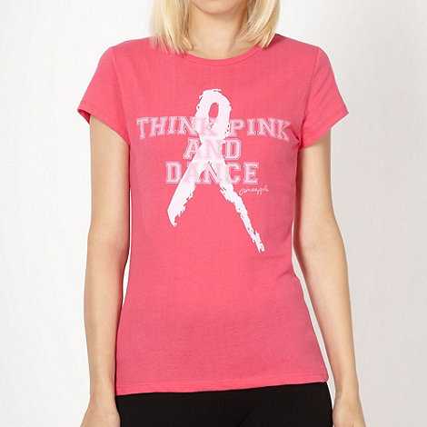 Pineapple - Pineapple pink +Think Pink and Dance+ print t-shirt