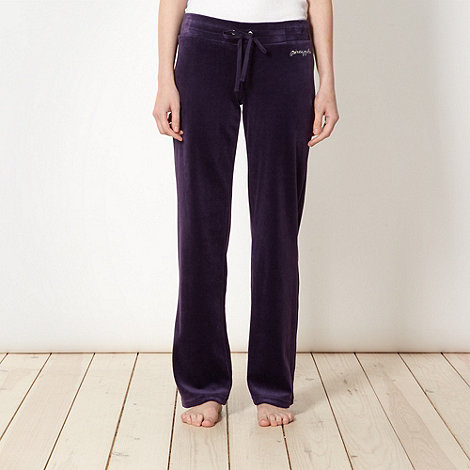 Pineapple - Pineapple dark purple velour jogging bottoms