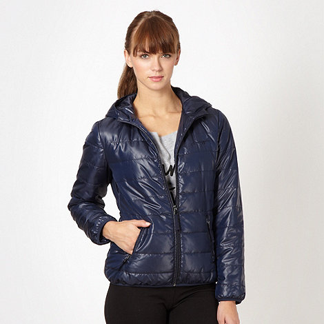 Pineapple - Navy padded hooded jacket