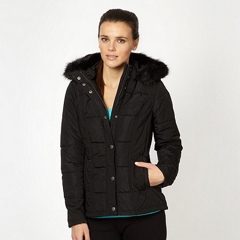 Pineapple - Black padded short parka jacket