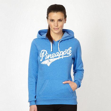 Pineapple - Blue logo hoodie
