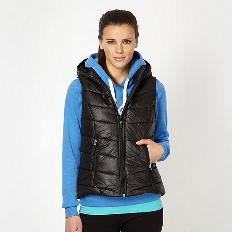 Pineapple - Black padded hooded gilet
