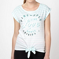 Pineapple - Aqua striped tied t-shirt