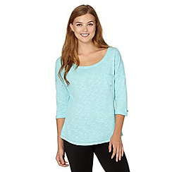 Pineapple - Aqua heart pocket top