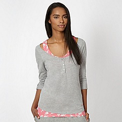 Pineapple - Grey and pink 2-in-1 top