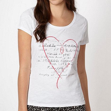 Pineapple - White heart script t-shirt
