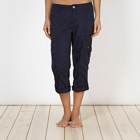 Pineapple - Navy cropped combat trousers