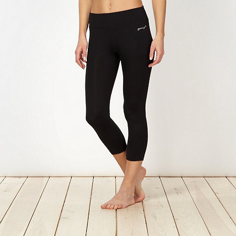 Pineapple - Black performance capri pants