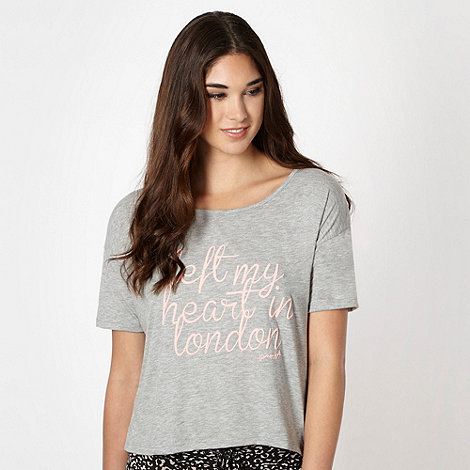 Pineapple - Grey +left my heart in London+ print t-shirt