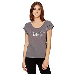 Pineapple - Grey 'Live Love Dance' t-shirt