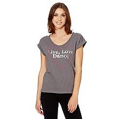Pineapple - Grey 'Live Love Dance' t-shirt