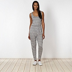 Pineapple - Grey aztec print jumpsuit