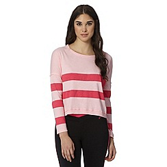 Pineapple - Pink striped crop front top