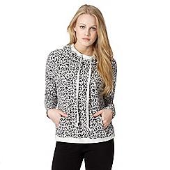 Pineapple - Grey leopard print hoodie