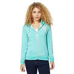Pineapple - Aqua heart print zip through hoodie