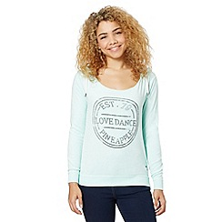 Pineapple - Aqua 'Love Dance' towelling sweat top