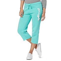 Pineapple - Aqua cropped logo applique jogging bottoms