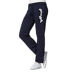 Pineapple - Navy sequin logo jogging bottoms