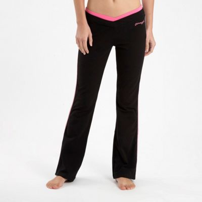 Black Piped Kick-flare Jogging Trousers