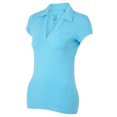 Bright blue collar support t-shirt