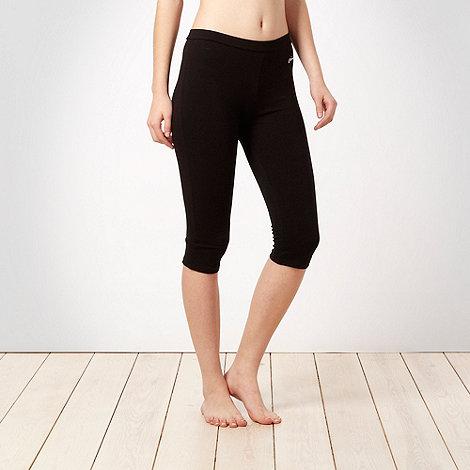 Pineapple - Pineapple black over the knee fitness leggings