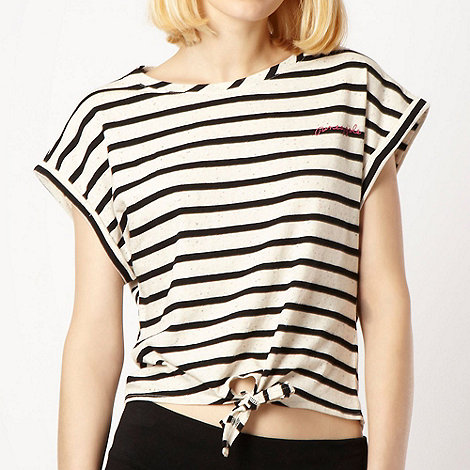Pineapple - Pineapple off white flecked striped t-shirt