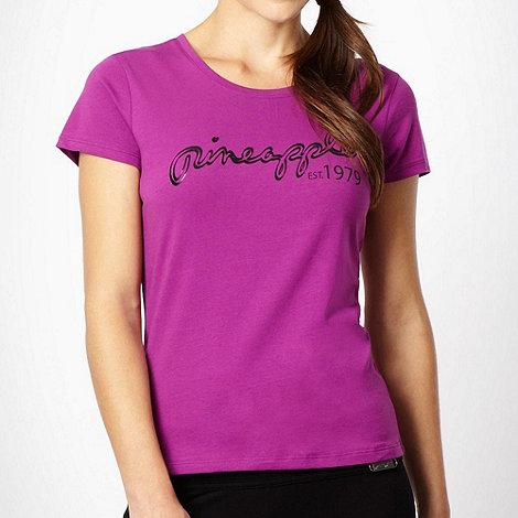 Pineapple - Pineapple purple crew neck logo t-shirt
