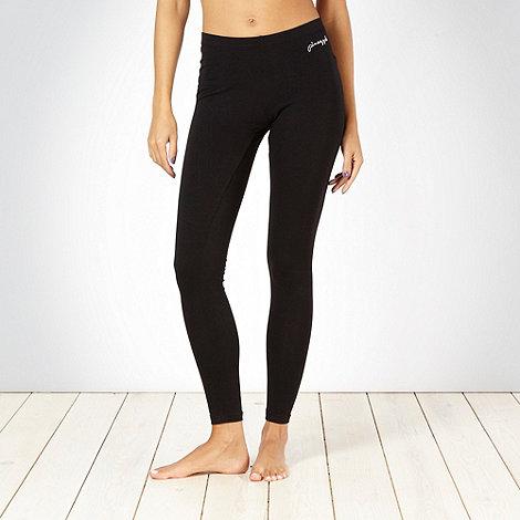 Pineapple - Pineapple black full length leggings