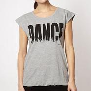 Pineapple grey brush stroked 'Dance' logo t-shirt