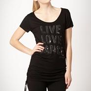 Pineapple black 'Love Live Dance' top