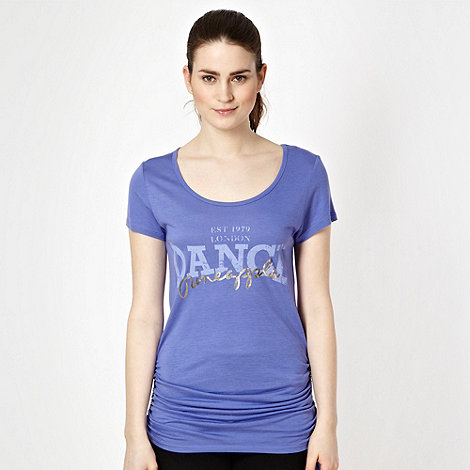Pineapple - Purple ruched side t-shirt
