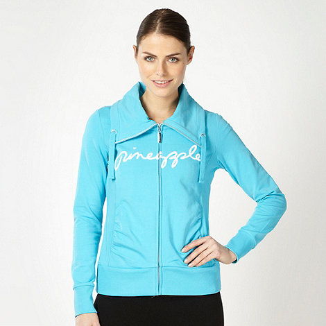 Pineapple - Pineapple turquoise fly collar sweat jacket