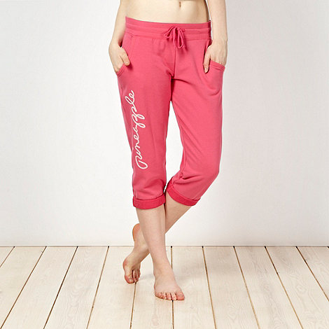 Pineapple - Pineapple pink script logo cropped jogging bottoms